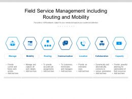 Field Service Management Including Routing And Mobility