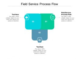 Field Service Process Flow Ppt Powerpoint Presentation Inspiration Layouts Cpb