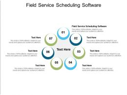 Field Service Scheduling Software Ppt Powerpoint Presentation Infographics Maker Cpb