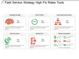Field Service Strategy High Fix Rates Tools