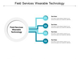 Field Services Wearable Technology Ppt Powerpoint Presentation Outline Cpb