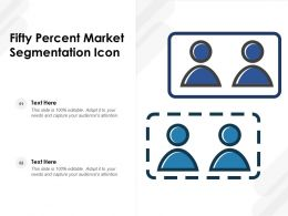 Fifty Percent Market Segmentation Icon