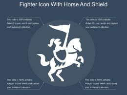 Fighter Icon With Horse And Shield