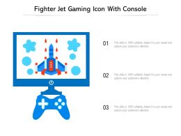 Fighter Jet Gaming Icon With Console