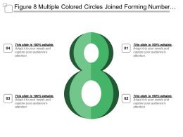 Figure 8 Multiple Colored Circles Joined Forming Number Eight