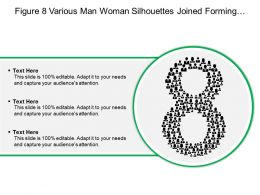 Figure 8 Various Man Woman Silhouettes Joined Forming Number Eight