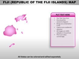 Fiji Country PowerPoint Maps