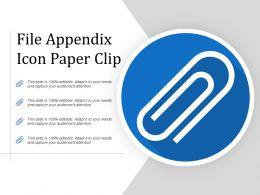 File Appendix Icon Paper Clip