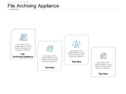 File Archiving Appliance Ppt Powerpoint Presentation Outline Structure Cpb