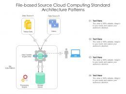 File Based Source Cloud Computing Standard Architecture Patterns Ppt Presentation Diagram