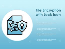 File Encryption With Lock Icon
