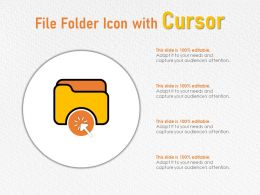 File Folder Icon With Cursor