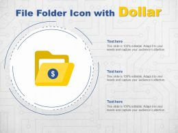 File Folder Icon With Dollar