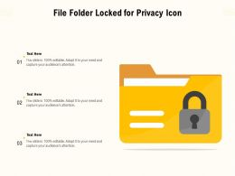 File Folder Locked For Privacy Icon