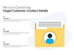 File Icon Containing Target Customer Contact Details