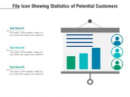 File Icon Showing Statistics Of Potential Customers