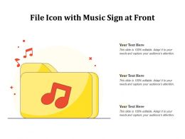 File Icon With Music Sign At Front