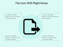 File Icon With Right Arrow