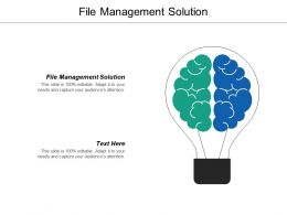 File Management Solution Ppt Powerpoint Presentation Icon Smartart Cpb