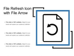 File Refresh Icon With File Arrow