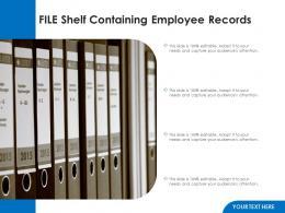 File Shelf Containing Employee Records