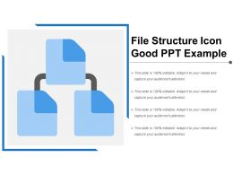 File Structure Icon Good Ppt Example