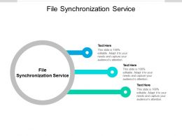 File Synchronization Service Ppt Powerpoint Presentation Model Templates Cpb