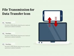 File Transmission For Data Transfer Icon