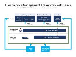Filed Service Management Framework With Tasks