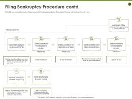 Filing Bankruptcy Procedure Contd Objections Ppt Powerpoint Presentation Graphics