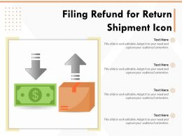 Filing Refund For Return Shipment Icon
