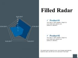 Filled Radar Powerpoint Shapes