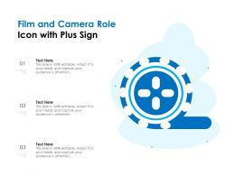 Film And Camera Role Icon With Plus Sign