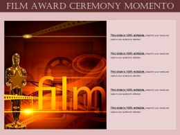 Film Award Ceremony Momento