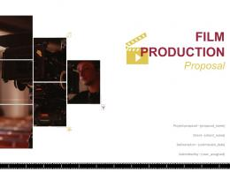 Film Production Proposal Powerpoint Presentation Slides