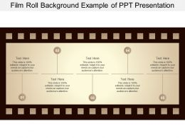 Film Roll Background Example Of Ppt Presentation