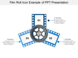 Film Roll Icon Example Of Ppt Presentation