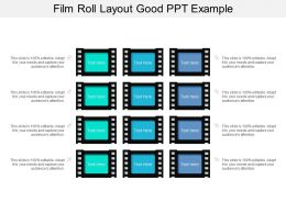 Film Roll Layout Good Ppt Example