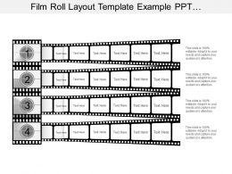Film Roll Layout Template Example Ppt Presentation
