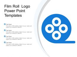 Film Roll Logo Power Point Templates