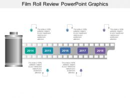 Film Roll Review Powerpoint Graphics