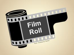 Film Roll Review Powerpoint Graphics Year Management Marketing Analysis Strategy