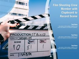 Film Shooting Crew Member With Clapboard To Record Scene