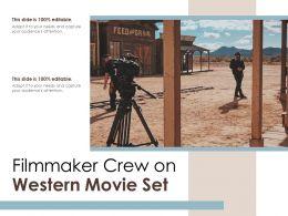 Filmmaker Crew On Western Movie Set