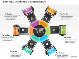 Filmroll Circle For Data Representation Powerpoint Template