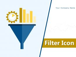 Filter Icon Funnel Graph Arrow Dollar Investment Gears Process