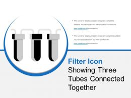 Filter Icon Showing Three Tubes Connected Together