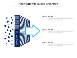 Filter Icon With Bubble And Arrow