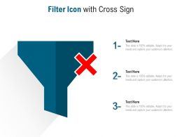 Filter Icon With Cross Sign