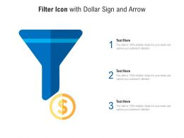 Filter Icon With Dollar Sign And Arrow